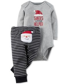 Carter's Babies' Two-Piece Christmas Bodysuit and Pants Set