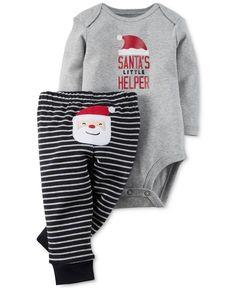 Carter's Babies' Two-Piece Christmas Bodysuit and Pants Set