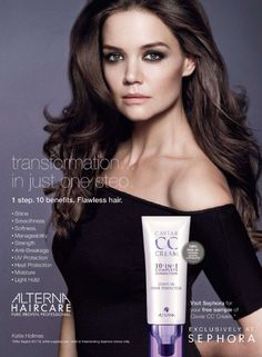 Katie Holmes Fronts Ad Campaign For New Caviar CC Cream