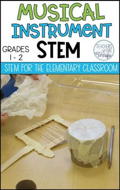 A Breakthrough That Will Help You Plan for STEM STEM for First Grade! The post includes five ideas with books as the inspiration for STEM projects. Includes details and materials lists! First Grade Projects, Stem Projects For Kids, 1st Grade Crafts, Steam Activities, Music Activities, Stem Teacher, 1st Grade Science, Stem Challenges, Project Based Learning