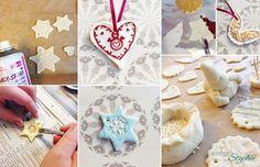 Salzteig - Weihnachtsgeschenke basteln mit Salzteig und Knete: Anmalen