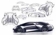Porsche+sketches.jpg 964×601 pixels