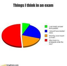 Exams suck.  Spongebob.