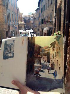 Art Sketches, Art Drawings, Arte Peculiar, Art Hoe Aesthetic, Arte Sketchbook, Travel Sketchbook, Sketchbook Inspiration, Urban Sketching, Art Plastique