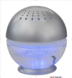 H20 Little Squirt Air Cleaner 600' Room Purifier air freshener LED light sounds