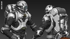 Halo 5: Diving Suit Fan Art 3DS Max screengrabs, Josh Dina on ArtStation at https://www.artstation.com/artwork/d9lBQ