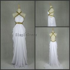I found 'Real Sheath Halter Count Train Chiffon Ruffles White Long Prom/Evening/Party/Homecoming/Bridesmaid/Formal Dress 2013 New Arrival' on Wish, check it out!