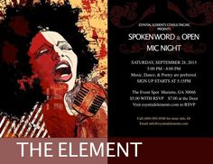 Join us for spoken word and open mic night.