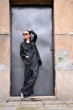 NEW COLLECTION Spring Black Jacket / Cotton  Coat / by Aakasha, $129.00