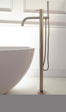 Brushed Stainless Freestanding Bath Tap (49F)