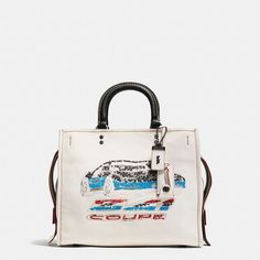 Coach Rogue ($895) ❤ liked on Polyvore featuring bags, handbags, shoulder bags, leather handbags, coach shoulder bag, sequin handbags, distressed leather purse and leather shoulder handbags