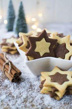 Schwarz-Weiß-Sterne I Black and white star cookies I Sia´s Soulfood