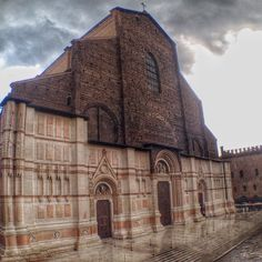 Bologna's Cathedral, San Petronio, famous for its unfinished façade. The pic was taken from the #blogville house - not bad a view, right? - Instagram by the_crowded_planet