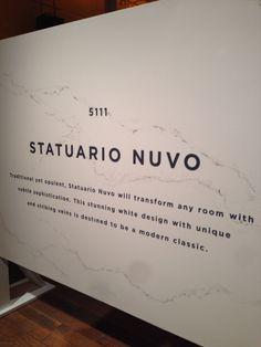 Caesarstone's NEW Statuario Nuvo.