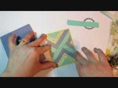 YouTube card making video ..,. Herringbone Technique Faux Quilt Card Tutorial ... Stampin' Up!