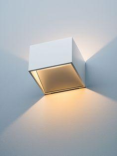 LED Wandleuchte New Kube Aluminium, weiß