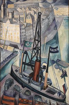 Lyftkranen (The Crane) by Isaac Grünewald (Swedish), oil on canvas, 1915 Famous Art Paintings, Your Paintings, Henri Matisse, Nordic Art, Mid Century Art, Expressions, Oil Painting Reproductions, Pictures To Paint, Oil Painting On Canvas