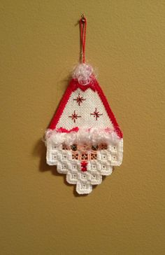 Santa Hardanger Ornament by MnMom23 on Etsy