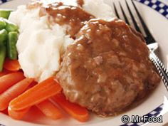 I LOVE this recipe.. This is a number 1 favorite recipe of mine with Mashed Potatoes and gravy!! I eat the beans separately..