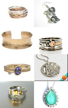 Silver and gold by Pamela Whitlow on Etsy--Pinned with TreasuryPin.com