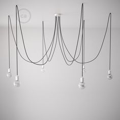 A great chandelier to add a touch of sophistication and elegance. You can choose Spider in 5,6, or 7 pendant configurations: each pendant is 13ft which will allow you to adjust it to any environment. Spider can be purchased in a Do It Yourself Kit (DIY) or with the pendants already assembled and ready to hang.  The connections inside the canopy are prepared but not connected, in order to allow your electrician to create different lighting effects with the pendants. The Spider includes…