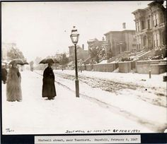 A snowy street in Mission District Shotwell/20th Street in SF 1887 SFPL