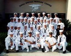 Basic Underwater Demolition/ SEAL (BUD/S) graduating class 236. Navy SEAL (Sea, Air, Land) Lt. Michael P. Murphy, 29, from Patchogue, NY is pictured on the far left side of the back row.