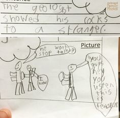 """""""My son's third grade vocab word was geologist. Apparently, he had a rather low opinion of them."""" (submitted by Beth) Geology Humor, Funny Science Jokes, Family Show, Yes, His Hands, Third Grade, Comedy, Let It Be, Words"""