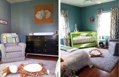 Super fun green crib!  #greencrib #nursery #boynursery