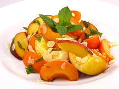 Salade aux fruits jaunes
