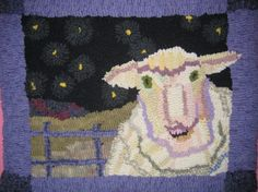 One of my favorite rugs made as a gift for Olivia. Not my designe.