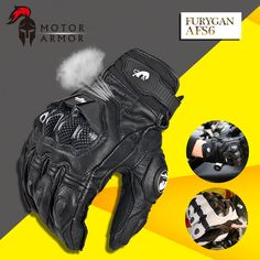 3eb4012066c37 Furygan Winter Men's Breathable AFS6 Motorcycle Gloves Racing Leather  Guantes Carbon Knukle Protection Gants Moto Black White-in Gloves from  Automobiles ...