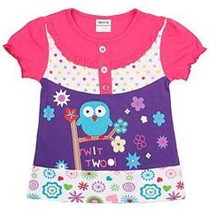 Girl's T shirt Cartoon Embroidery Short Sleeve Kids Clothes Summer Children Tees Random Print