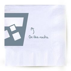 """On the Rocks"" cocktail napkins"