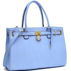Keyed Up Padlock Tote blue