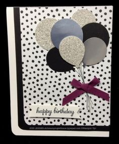 Handmade birthday card using the Balloon Bouquet Punch from Stampin' Up! #imbringingbirthdaysback