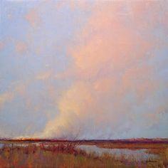 Marc R. Hanson - 'Prairie Fires' - 24x24 - oil on linen - 2007