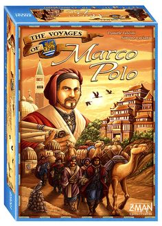 The Voyages of Marco Polo. The board game of the year (so far). In this intense, European-style strategy affair, you and three friends take turns rolling dice, and then use those dice to trade for mercantile resources, secure trade contracts, and travel about a 13th century map of the silk road and coastal Asia