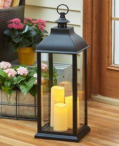 Oversized LED Candle Lantern with Timer