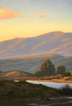 Nicasio Reservoir, Northern California landscape painting, West Marin county image, original oil painting http://terrysauve.com