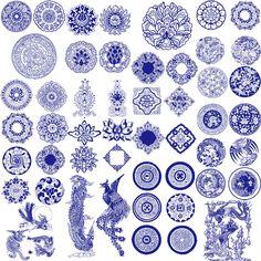 中国风青花瓷 - Google 搜尋 Chinese Design, Japanese Design, Pattern Art, Pattern Design, Chinese Ornament, Chinese Patterns, Oriental Pattern, China Art, Chinese Ceramics