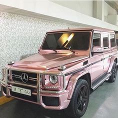 Pink car dream car KSA G class Mercedes