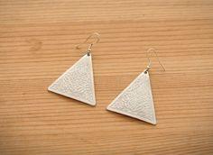 Embossed Triangle Earrings – Earrings | yeswalker | Free worldwide shipping on every order