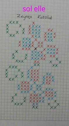 Tunisian Crochet, Crochet Stitches, Crochet Patterns, Cross Stitch Designs, Cross Stitch Patterns, Kutch Work, Beaded Jewelry Patterns, Knitting Charts, Crochet Slippers