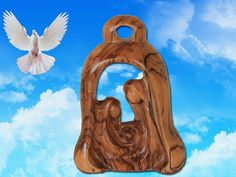 Holy family carved in Olive Wood by Jesusolivewood on Etsy, $56.00