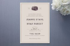 Farm Wedding Invitations - Rustic Wedding Chic