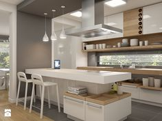 Consider Installing Kitchen Islands To Go With Your Unique Kitchen Design – Home Dcorz Home Decor Kitchen, Kitchen Furniture, New Kitchen, Window Furniture, Family Kitchen, Kitchen White, Rustic Kitchen, Modern Kitchen Design, Interior Design Kitchen