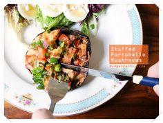 Low-carb meal idea: Stuffed Portobello Mushrooms http://budgetpantry.com/stuffed-portobello-mushrooms/