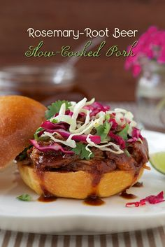 The Café Sucré Farine: Rosemary Root Beer Slow-Cooked Pork w/ Honey-Lime Slaw