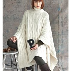 PONCHO {vogue knitting pattern}